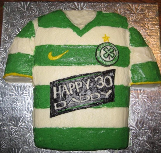 Celtic Football Club jersey cake