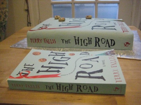 Book cake replica