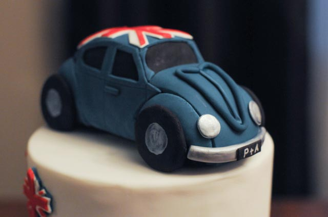 British Canadian VW Bug Cake