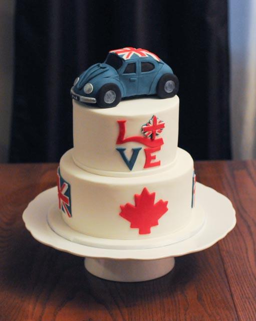 British Canadian VW Bug Cake