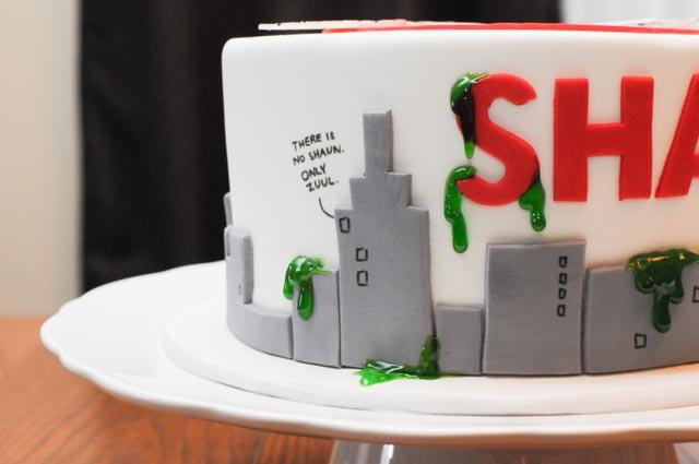 Ghostbusters Logo Cake