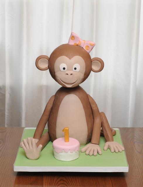 Sculpted 3D Monkey Cake