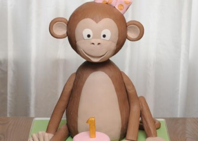Sculpted 3D Monkey Cake