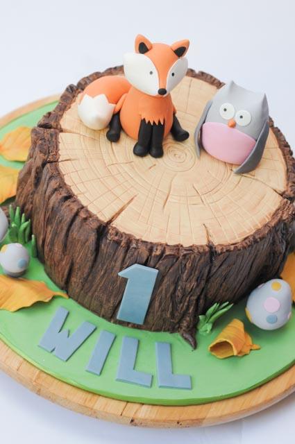 Woodland Creatures Cake