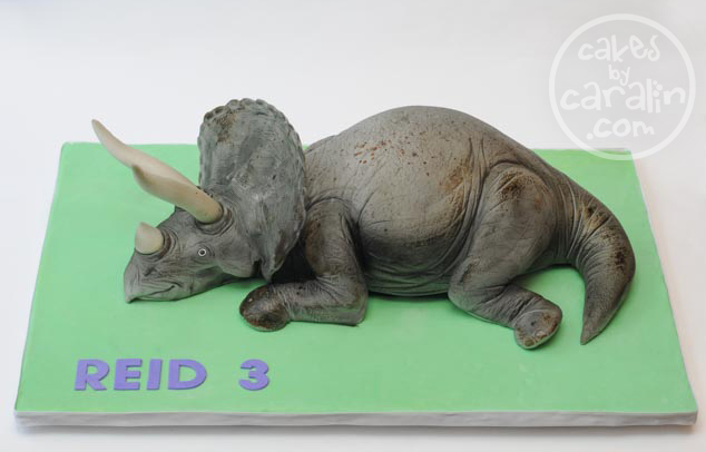 How To Make Triceratops Cake