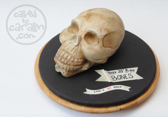 Spooky Skull Cake