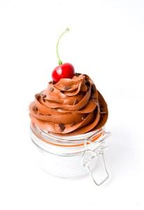 Glass Jar Handmade Cupcake Canister Chocolate