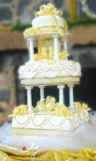 birds wedding cake