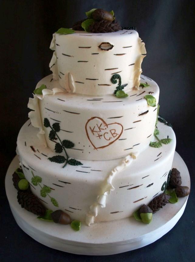 Wedding Heart Purple Cakes