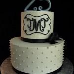 buttercream anniversary cakes portland, monogram cake portland or, silver anniversary cake