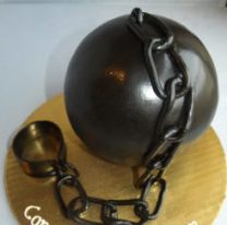 Ball Chain Grooms Cake, best grooms cake portland, delicious fun grooms cake, Wilsonville, Oregon
