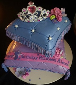 Beautiful birthday cake, cinderella cake, tiara cake, custom fondant cake portland, cakes wilsonville