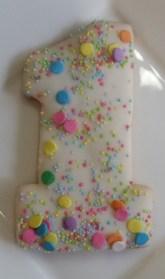 Cookie favors portland, birthday favors, edible favors portland, kid birthday favors, kid birthday cookies, number cookies, sugar cookies, decorated cookies portland