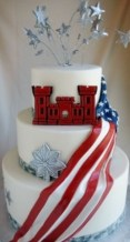 portland, oregon, grooms cake, army cake, flag cake