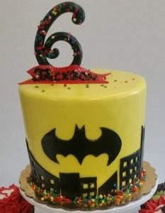Batman cake, superhero cake