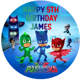 PJ Masks Edible Picture Cake Topper