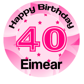 Birthday Number 40 Edible Cake Topper