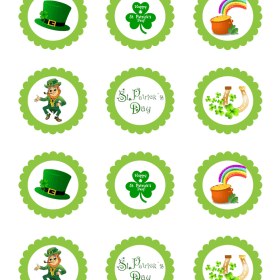 St Patrick's Day Edible Cake Topper