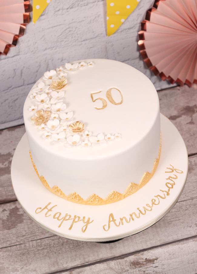 50th Wedding Anniversary Cake  Cakey Goodness