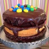 Naked M&M Cake