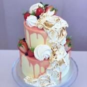 Two tier Eton Mess cake