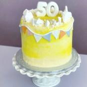 Lemon chiffon Bunting cake