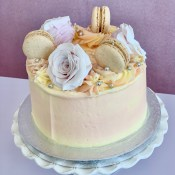 Lemon Summer flower cake