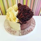 Half and Half Chocolate cake