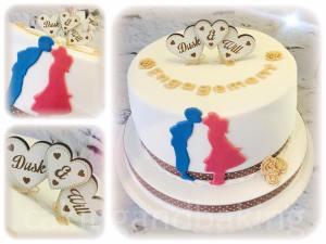 Rustic Engagement Cake