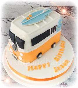 VW Camper Van Surfboard Cake