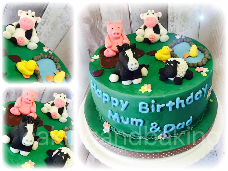 Farm Animals Birthday Cake Caking And Baking Sweet As