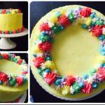 Buttercream Flower Wreath Cake