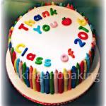 Teachers Thank You Crayon Cake