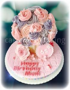 65th Birthday Buttercream Giant Cupcake