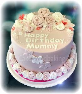 Pretty Pink Flower Cake