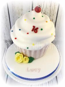 Sweet 16 Giant Birthday Cupcake