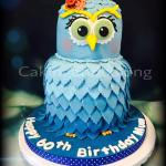 Large Cute Owl Cake