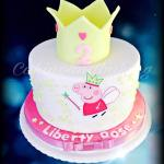 Peppa Pig Crown Cake