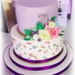 Hand Painted Cath Kidston Inspired Anniversary Cake
