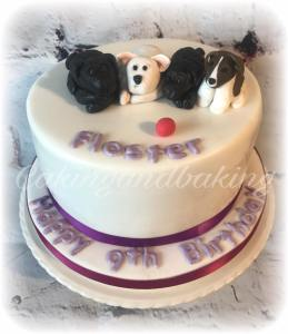 Puppy Dogs Cake