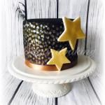 Black & Gold Star Cake