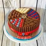 Chocolate 1st Anniversary Heart Shaped Cake