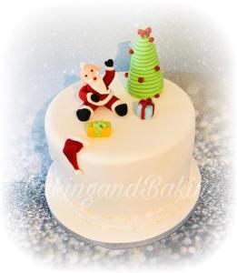 Happy Santa Christmas Cake