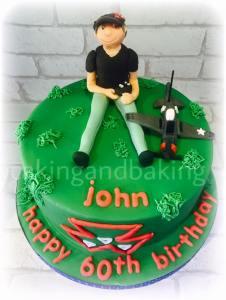 Model Aircraft Cake