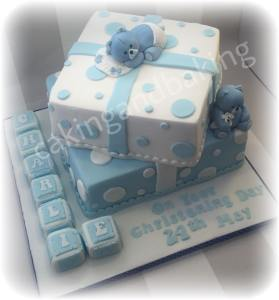 Teddy Christening Cake