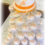 Wedding Cupcake Tower - Apricot