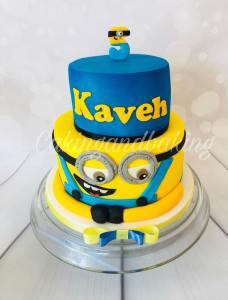 2 Tier Minion Cake