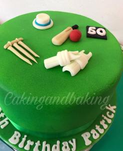 Cricket Themed Cake O Caking And Baking Leamington Spa Warwickshire