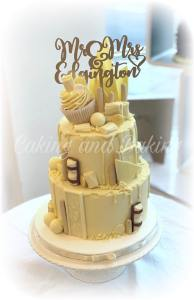 white choc wedding cake