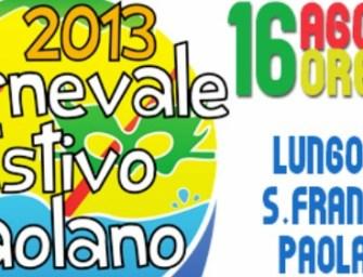 Estate Paolana, appuntamento con il Carnevale estivo